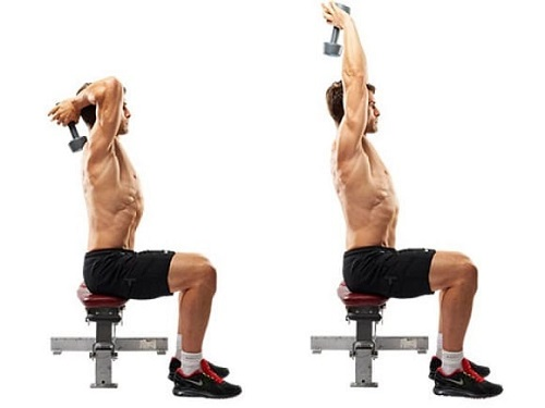 extension tras nuca triceps