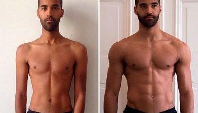 antes y despues hombre transformacion