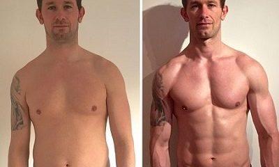 antes y despues transformacion de hombre ejemplo