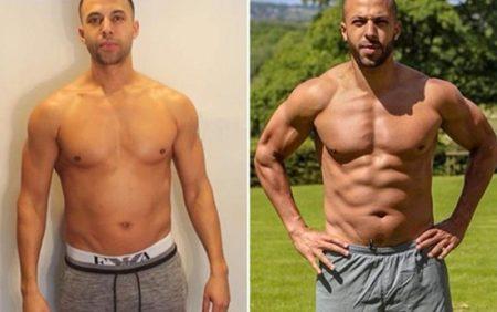 cuerpo hombre antes despues musculos